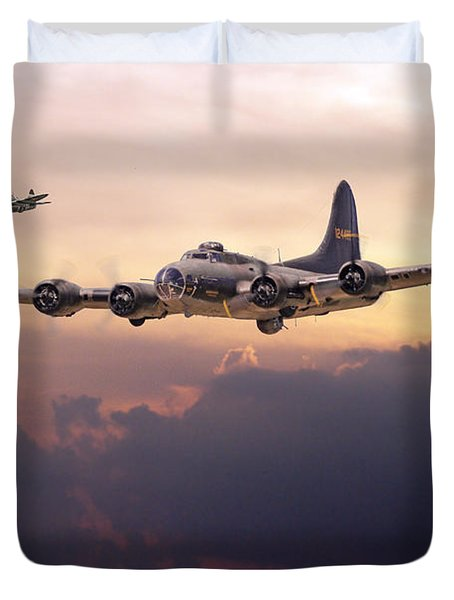 B17- Last Home Duvet Cover by Pat Speirs