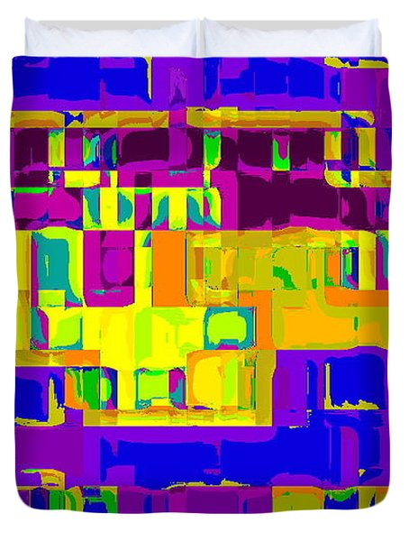 BOLD AND COLORFUL PHONE CASE ARTWORK CITY ABSTRACTS BY CAROLE SPANDAU CBS ART EXCLUSIVES 132  Duvet Cover by CAROLE SPANDAU