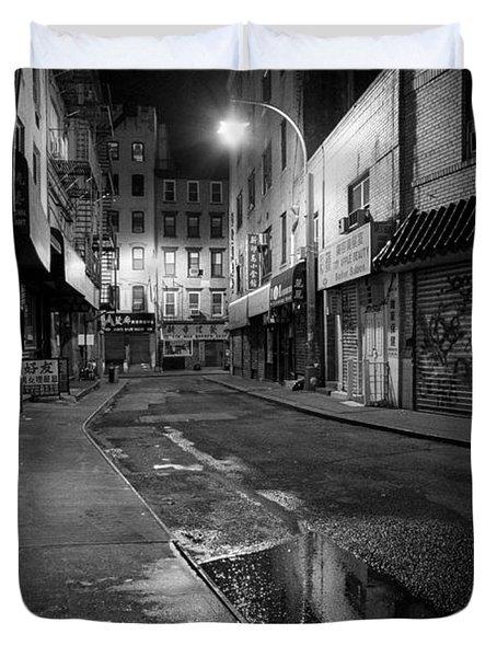 Chinatown New York City - Doyers street Duvet Cover by Gary Heller