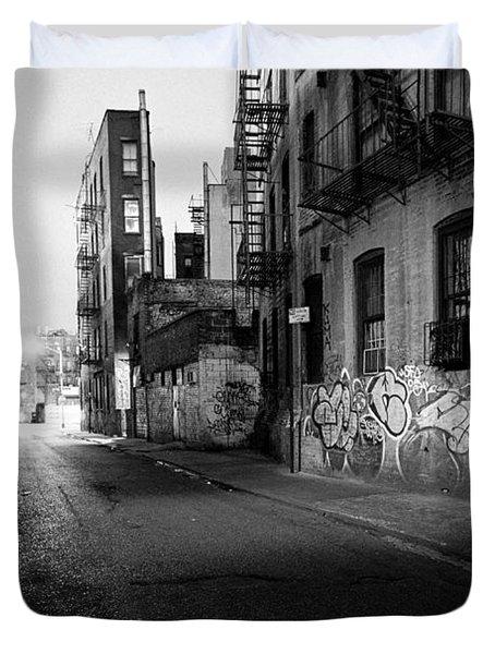 Chinatown New York City - Mechanics Alley Duvet Cover by Gary Heller