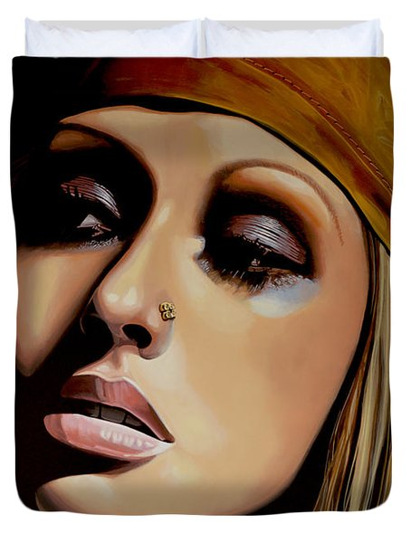 Christina Aguilera Duvet Cover by Paul Meijering