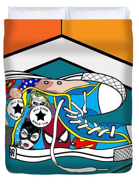 Comics Shoes Duvet Cover by Mark Ashkenazi