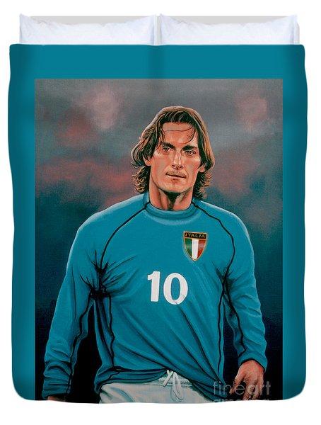 Francesco Totti Italia Duvet Cover by Paul Meijering