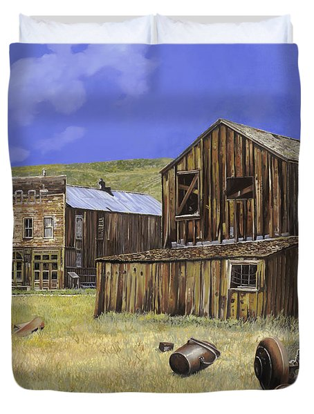 Ghost Town Of Bodie-california Duvet Cover by Guido Borelli