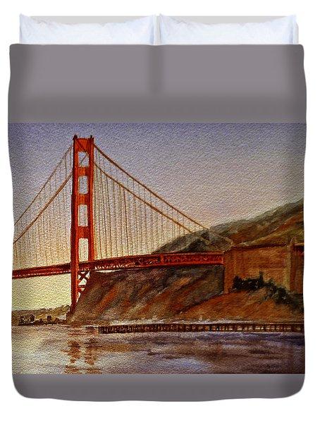 Golden Gate Bridge San Francisco California Duvet Cover by Irina Sztukowski