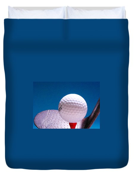 Golf Duvet Cover by David and Carol Kelly