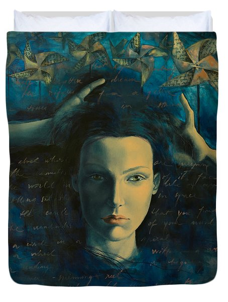 In A Half Forgotten Dream Duvet Cover by Dorina  Costras