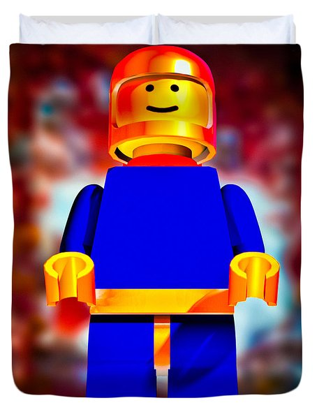 Lego Spaceman Duvet Cover by Bob Orsillo