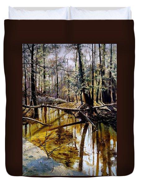 Lubianka-2-River Duvet Cover by Henryk Gorecki