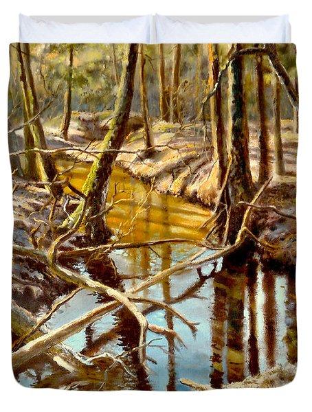 Lubianka-3-river Duvet Cover by Henryk Gorecki