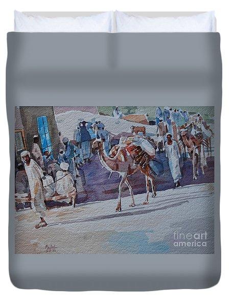 Market Duvet Cover by Mohamed Fadul