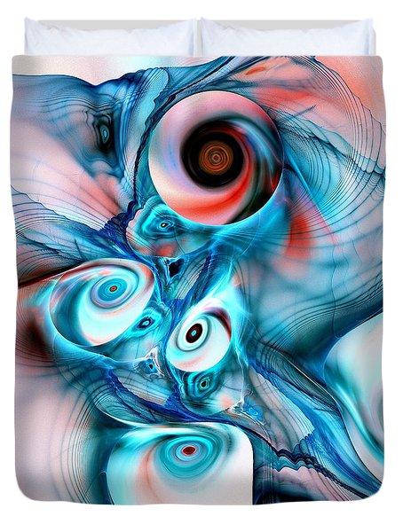 Marshmallow Dragon Duvet Cover by Anastasiya Malakhova