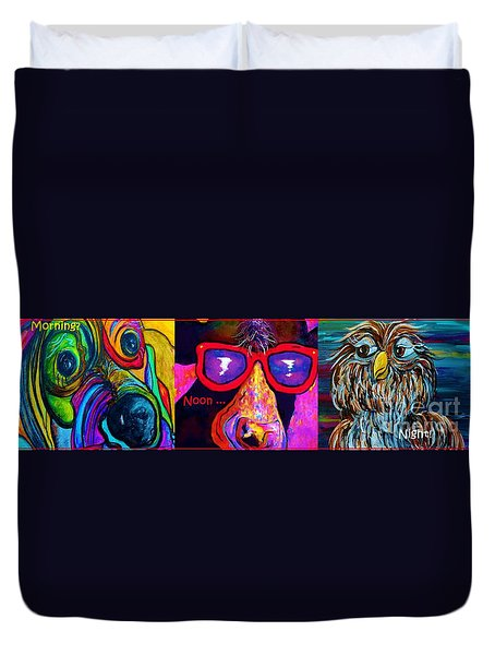 Morning Noon And Night Duvet Cover by Eloise Schneider