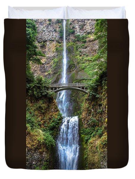Multnomah Falls Duvet Cover by Robert Bales