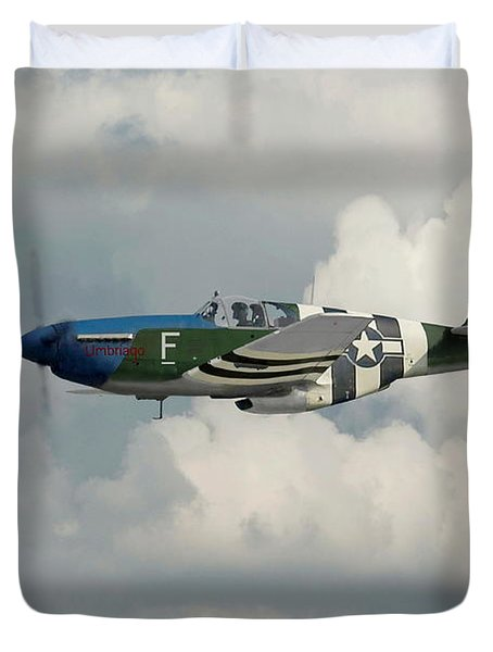 P51 Mustang Gallery - No1 Duvet Cover by Pat Speirs
