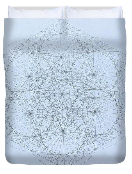Quantum Snowflake Duvet Cover by Jason Padgett