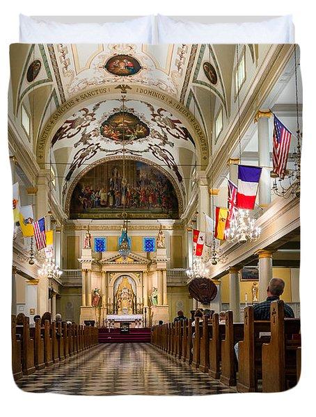St. Louis Cathedral Duvet Cover by Steve Harrington