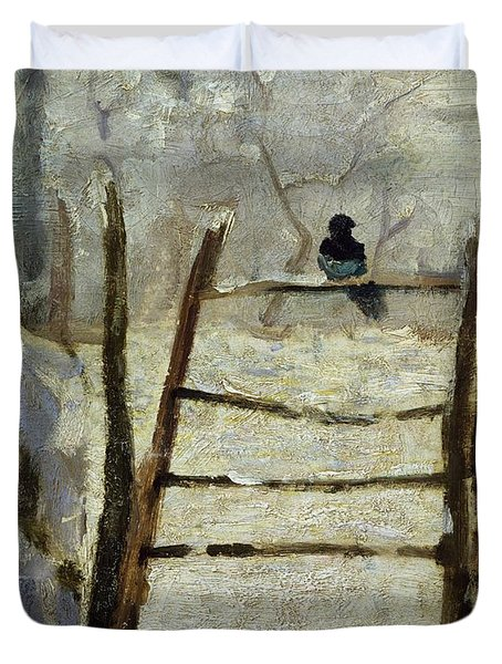 The Magpie Duvet Cover by Claude Monet