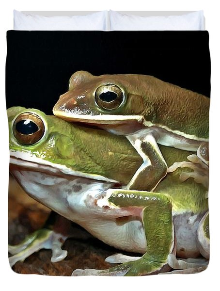 Tree Frog Duvet Cover by Lanjee Chee