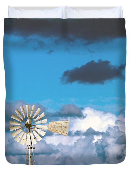 water windmill Duvet Cover by Stylianos Kleanthous