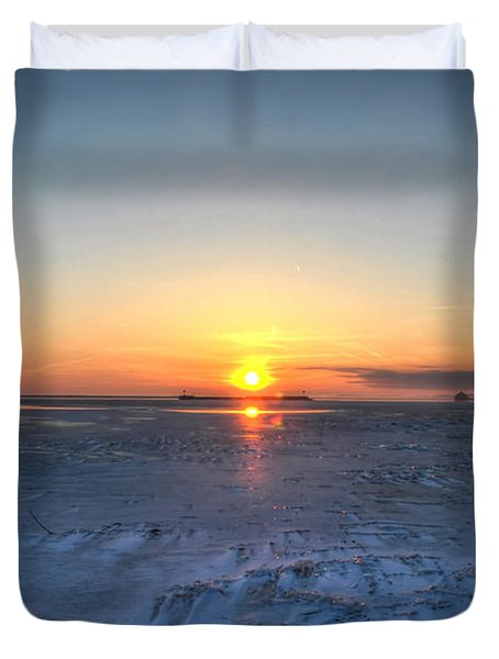 0012 EVEN ON OUR COLDEST DAYS WE STILL GET BLESSED WITH GORGEOUS RAYS Series Duvet Cover by Michael Frank Jr