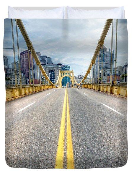 0306 Pittsburgh 9 Duvet Cover by Steve Sturgill