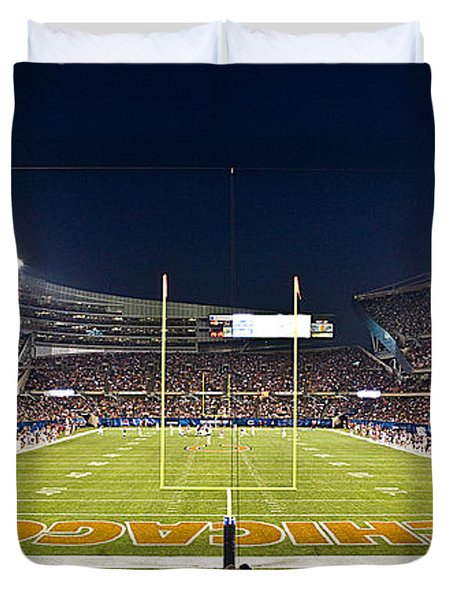 0587 Soldier Field Chicago Duvet Cover by Steve Sturgill