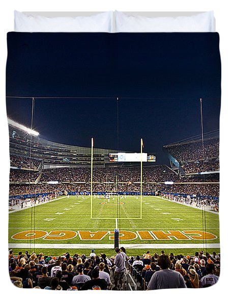 0588 Soldier Field Chicago Duvet Cover by Steve Sturgill