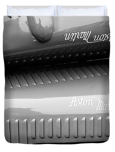 1935 Aston Martin Ulster Race Car Hood Duvet Cover by Jill Reger