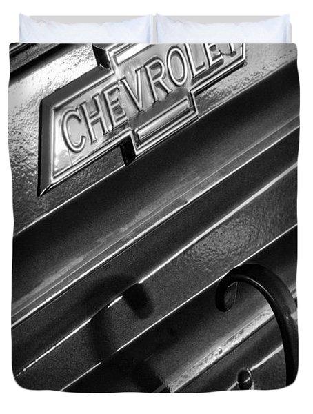 1937 Chevrolet Custom Pickup Emblem Duvet Cover by Jill Reger