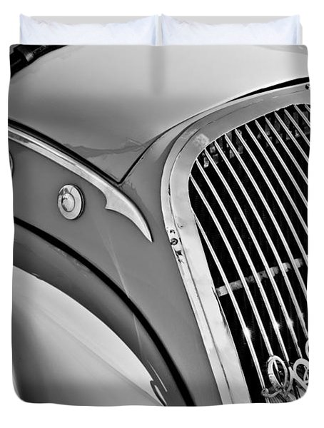 1937 Peugeot 402 Darl'mat Legere Special Sport Roadster Recreation Grille Emblem Duvet Cover by Jill Reger