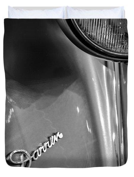 1940 Packard Super Eight One-eighty Darrin Convertible Sedan Headlight Emblem Duvet Cover by Jill Reger