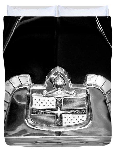 1950 Lincoln Cosmopolitan Limousine Emblem Duvet Cover by Jill Reger