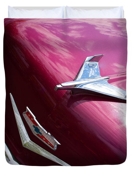 1956 Chevy Bel Air Duvet Cover by David Patterson