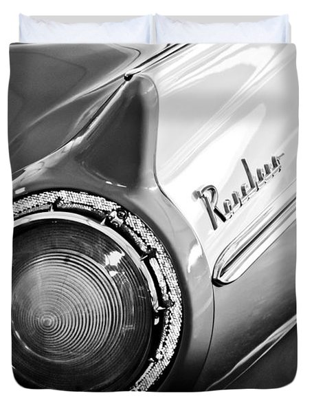 1957 Ford Ranchero Pickup Truck Taillight Duvet Cover by Jill Reger