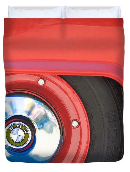 1958 Bmw Isetta 300 Wheel Emblem Duvet Cover by Jill Reger