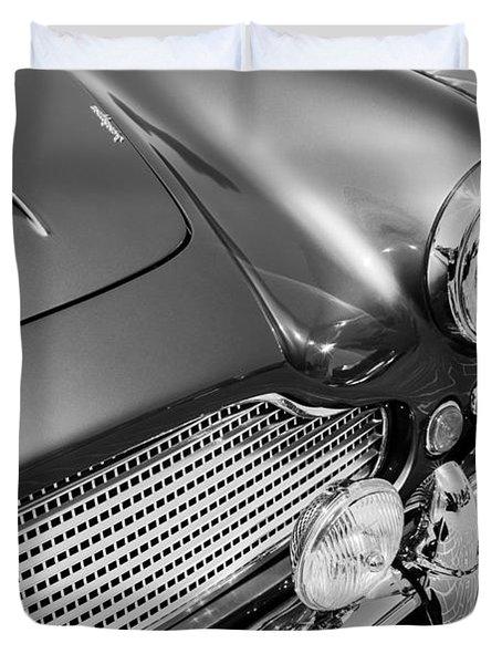 1960 Aston Martin Db4 Series II Grille Duvet Cover by Jill Reger