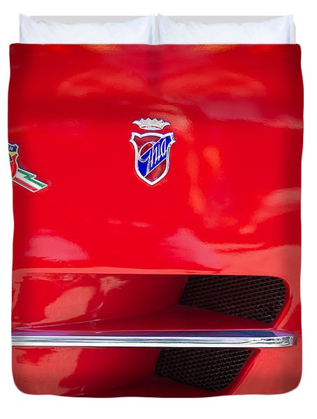 1962 Fiat Abarth 2300 S Coupe Emblems Duvet Cover by Jill Reger