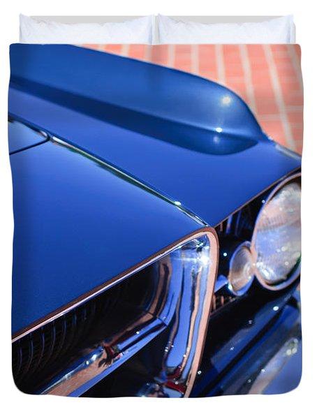 1962 Ghia L6.4 Coupe Grille Emblem Duvet Cover by Jill Reger