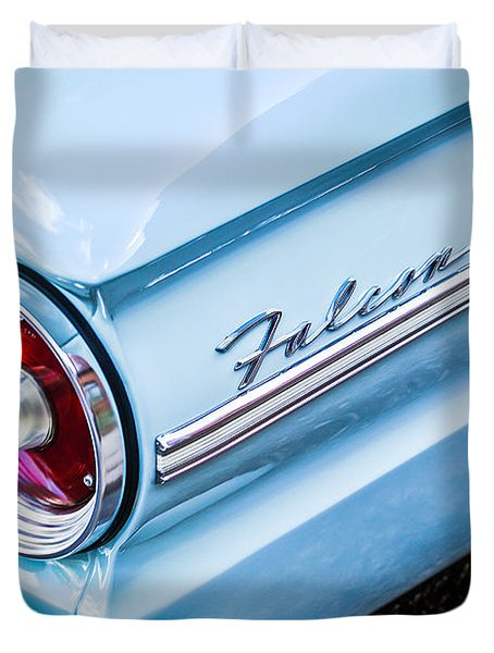 1963 Ford Falcon Futura Convertible Taillight Emblem Duvet Cover by Jill Reger