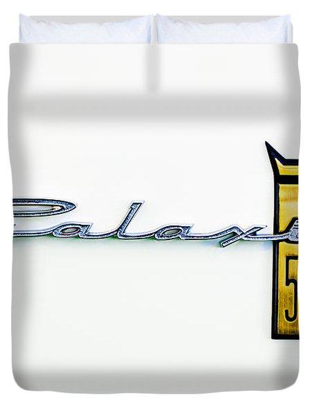 1963 Ford Galaxie 500 R-Code Factory Lightweight Emblem Duvet Cover by Jill Reger