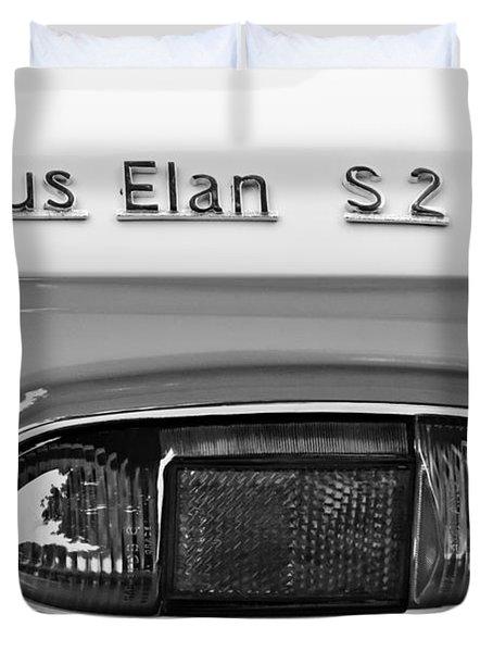 1965 Lotus Elan S2 Taillight Emblem Duvet Cover by Jill Reger