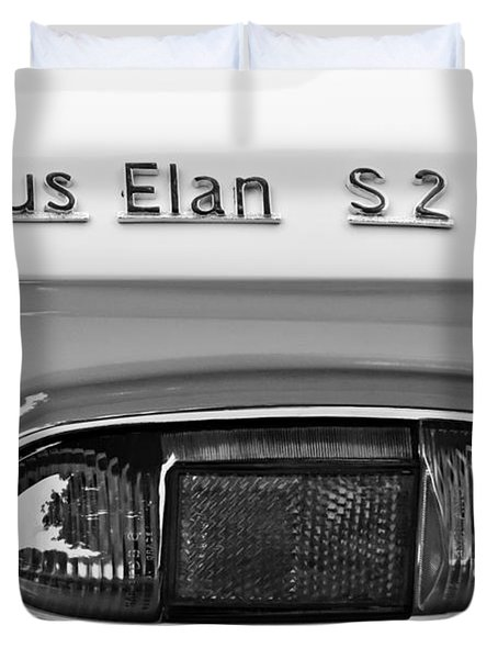 1965 Lotus Elan S2 Taillight Emblem Duvet Cover by Jill Reger