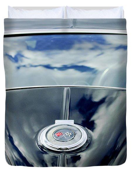 1967 Chevrolet Corvette Rear Emblem Duvet Cover by Jill Reger