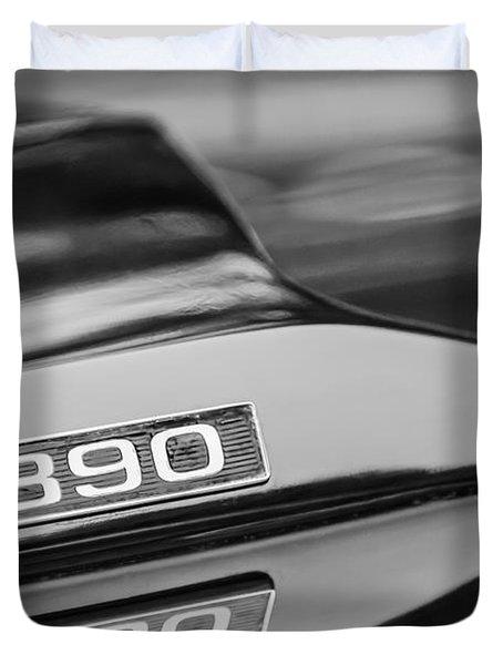 1969 Ford Mustang Mach 1 390 Hood Emblem Duvet Cover by Jill Reger