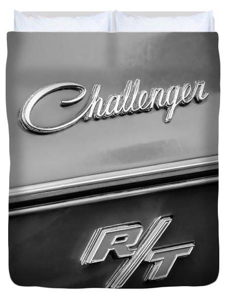 1970 Dodge Challenger RT Convertible Emblem Duvet Cover by Jill Reger