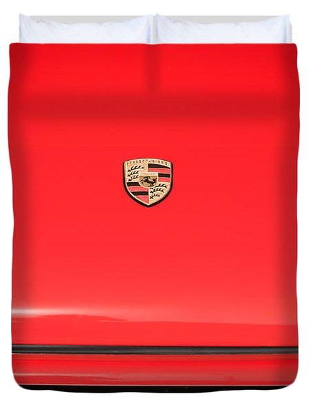 1971 Porsche 911 T Hood Emblem Duvet Cover by Jill Reger