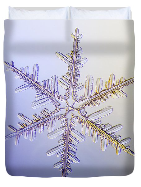 A Real Snowflake Showing The Classic Duvet Cover by Marion Owen