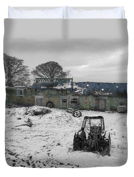 Abandoned To Nature Duvet Cover by David Birchall