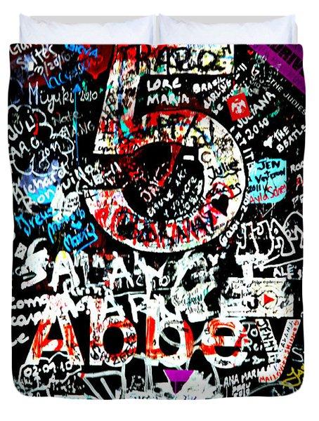 Abbey Road Graffiti Duvet Cover by Stephen Stookey
